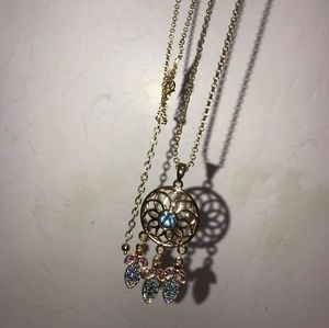 Jewelry - 18k Gold Plated Dream Catcher Necklace